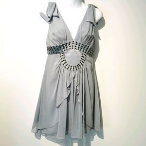 BCBG grayish blue S4 mini dress